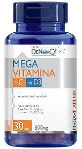 Vitamina C E Vitamina D3 30 Cápsulas 500mg - Dr New Qi