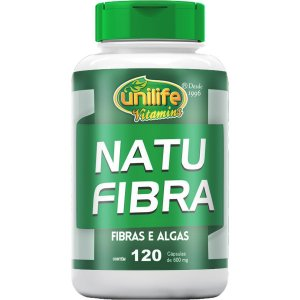 Natufibra Algas E Fibras 120 Cápsulas 600mg - Unilife