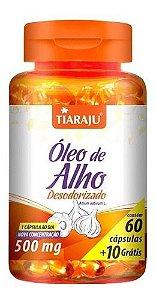 Óleo De Alho Desodorizado 500mg 70 Cápsulas - Tiaraju