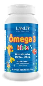 Ômega 3 Infantil Cereja 60 Cápsulas 250mg - Linho Lev
