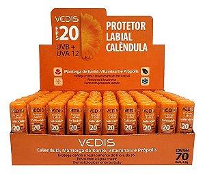 Protetor Labial Calêndula Fps 20 70 Unidades - Vedis