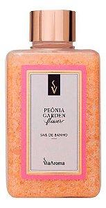 Sais De Banho Peônia Garden 440g - Via Aroma