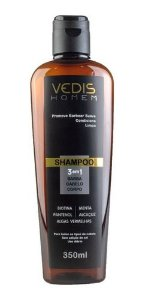 Shampoo Homem 3 Em 1 Cabelo, Barba E Corpo - Vedis