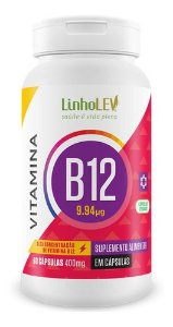 Vitamina B12 400mg 60 Capsulas - Linho Lev