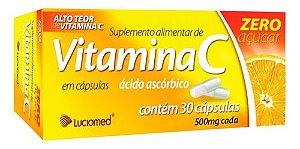 Vitamina C Zero Açúcar 30 Cápsulas - Luciomed