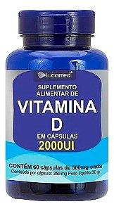 Vitamina D 2000ui 60 Cápsulas 500mg - Luciomed