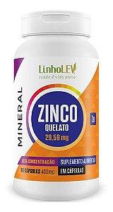 Zinco Quelato 400mg 60 Cápsulas - Linholev