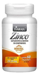 Zinco 300mg 60 Comprimidos - Tiaraju