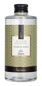 Refil Difusor Varetas Alecrim Silvestre 250ml - Via Aroma