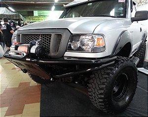 """Para-Choque Tubular Dianteiro 2"""" Com Mesa De Guincho Lift 2"""" e 3"""" 1998/2005 Ford Ranger"""