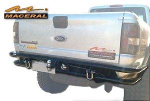 """Para-Choque Tubular Traseiro 2"""" Com Tomada E Engate 1998/2010 Ford Ranger"""