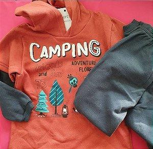 Blusa e calça moletom tamanho 3 - Camping