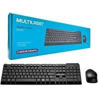 Teclado e Mouse Sem Fio 2.4GHZ Multilaser