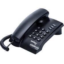 Telefone Com Fio Pleno - Preto e Branco Intelbras