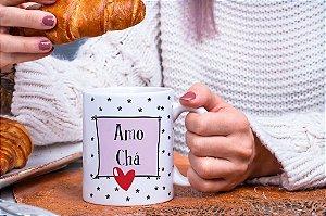 Caneca Amo chá
