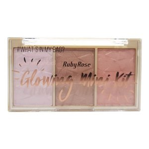 Paleta de Iluminador Glowing Mini Kit Cor 04 Ruby Rose