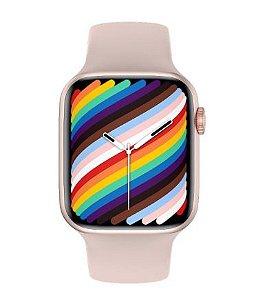 Relógio Smartwatch IWO W37 PRO Serie 7 - Rosa - Tela Infinita - IOS / Android - 44mm