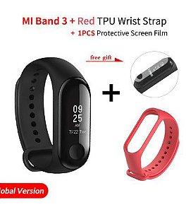 Relógio Smartwatch Xiaomi Mi Band 3 Preto Original + Pulseira e Pelicula