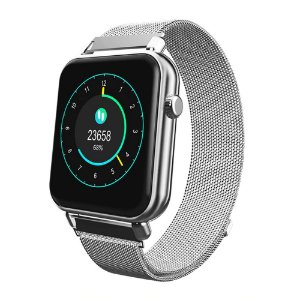 Relógio Eletrônico Smartwatch CF Style - Android e iOS - Prata