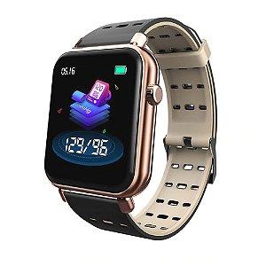 Relógio Eletrônico Smartwatch CF Style - Android e iOS - Rosê e Bege