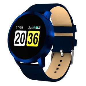 Relógio Eletrônico Smartwatch CF Gear - Couro Azul