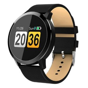 Relógio Eletrônico Smartwatch CF Gear- Couro Preto