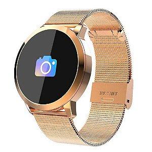 Relógio Eletrônico Smartwatch CF Gear - Rosê Gold