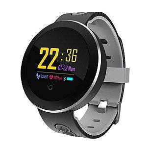 Relógio Eletrônico Smartwatch CF Gear - Preto com Cinza