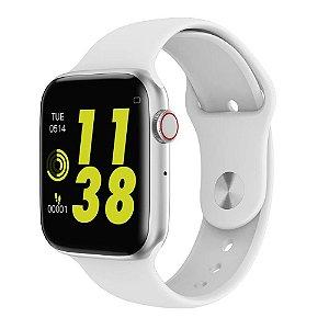 Relógio Eletrônico Smartwatch OLED Iwo 8 - Branco - 44mm - IOS e Android