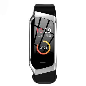 Relógio Eletrônico Smartwatch Talk Band - Preto com Prata - Android e IOS