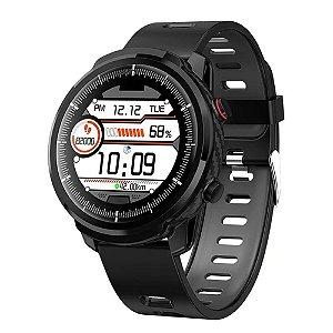 Relógio Smartwatch CF L3 - Preto com Cinza -  iPhone ou Android