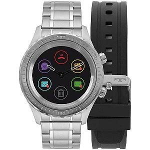 Relógio Smartwatch Technos Connect Duo Prata - P01AA/1P + 1 Pulseira de Brinde