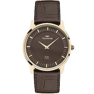 Relógio Technos Unissex Slim - Couro - GL20HJ/2M