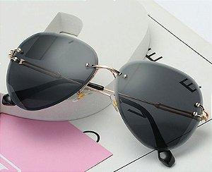 Óculos Feminino Vintage - Lente Preto - Sem Aro