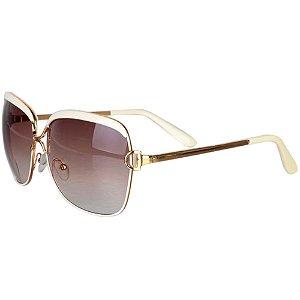 Óculos Feminino Royal Luxo - Dourado - Retangular