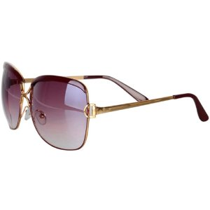 Óculos Feminino Royal Luxo - Marrom Degradê - Retangular