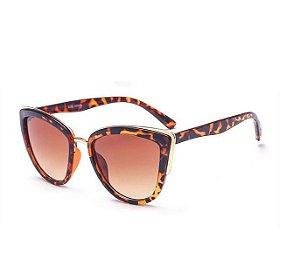 Óculos Feminino Modelo Gatinho - Leopardo
