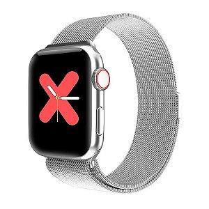 Relógio Eletrônico Smartwatch W68 - Prata - 44mm - Android e iOS