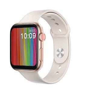 Relógio Eletrônico Smartwatch W68 - Rosa Claro - 44mm - Android e iOS