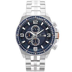 Relógio Technos Skymaster - Prata com Detalhe Azul - JS15FD/1A