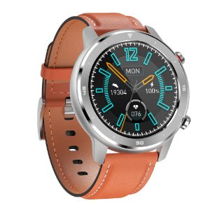 Relógio Eletrônico Smartwatch DT78 - Marrom Alaranjado - IOS e Android