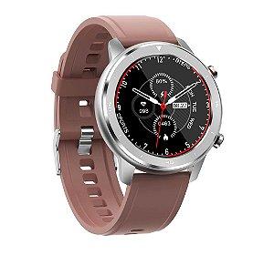 Relógio Eletrônico Smartwatch DT78 - Rosé Nude - IOS e Android