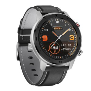 Relógio Eletrônico Smartwatch DT78 - Preto com Prata - IOS e Android