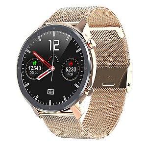 Relógio Eletrônico Smartwatch L11 - Rosé Gold - IOS e Android