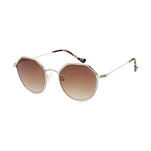 Óculos Euro Feminino Power Shape - Dourado com Branco - E0066E1024/4M