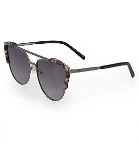 Óculos Euro Feminino Acetato Hit - Prata - E0002D1633/4C