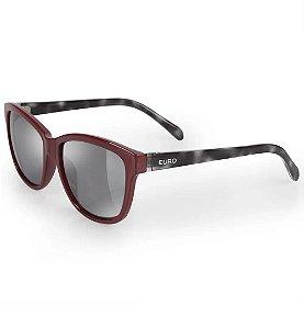 Óculos Euro Feminino Quadrado Colors - Vinho - E0018C6309/4C