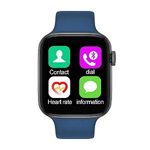 Relógio Smartwatch IWO T5 PRO  - Azul Escuro - iOS / Android - 44mm