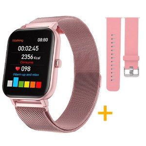 Relógio Eletrônico Smartwatch CF N99 PRÓ Rosa + 1 Pulseira de Brinde Rosa - Android e iOS