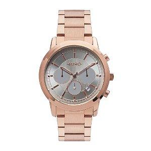 Relógio Euro Feminino Multi Basics Pushers - Rosé - EUJP25AB/4C